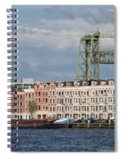 Terraced Houses And Koninginnebrug In Rotterdam Spiral Notebook