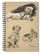 Terriers, 1930, Illustrations Spiral Notebook
