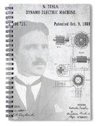 Tesla A / C Current Patent Art 1888 Spiral Notebook