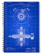 Tesla Alternating Electric Current Generator Patent 1891 - Blue Spiral Notebook