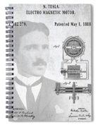 Tesla And The Electro Magnetic Motor Patent Spiral Notebook
