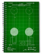 Tesla Electric Transmission Patent 1900 - Green Spiral Notebook