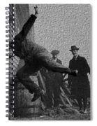 Testing Football Helmets In 1912 Ouchhhhh Spiral Notebook