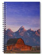 Teton Sunrise Spiral Notebook