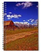 Tetons And Gambrel Barn Perspective Spiral Notebook