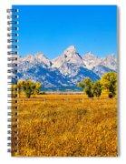 Tetons Autumn Panorama Spiral Notebook