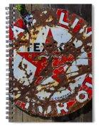 Texaco Sign Spiral Notebook