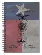 Texas Badge Patent On Texas Flag Spiral Notebook