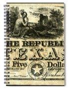 Texas Banknote, 1840 Spiral Notebook