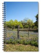 Texas Bluebonnet Lupine Pature Spiral Notebook