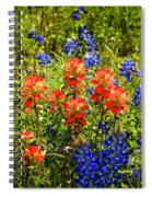 Texas Bluebonnets And Red Indian Paintbrush Spiral Notebook
