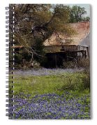 Texas Bluebonnets With Old Abandoned Shack Spiral Notebook