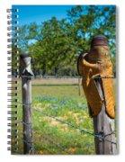 Texas Boot Fence Spiral Notebook
