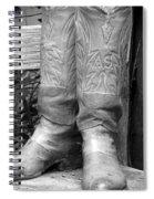 Texas Boots Portrait - Bw 03 Spiral Notebook