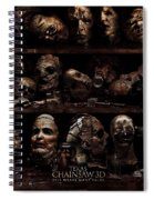 Texas Chainsaw 3d Faces Spiral Notebook