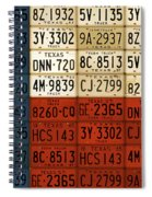 Texas Flag The Lone Star State License Plate Art Spiral Notebook