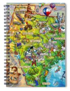Texas Illustrated Map Spiral Notebook
