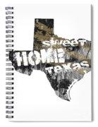 Texas Map Cool Spiral Notebook