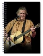 Texas Singer Songwriter Guy Clark In Concert Spiral Notebook