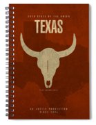 Texas State Facts Minimalist Movie Poster Art  Spiral Notebook