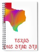 Texas State Map Collection 2 Spiral Notebook