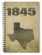 Texas Statehood Spiral Notebook