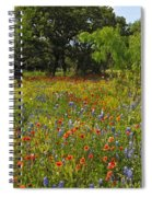 Texas Wildflower Medley Spiral Notebook
