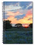 Texas Wildflower Sunset  Spiral Notebook