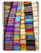 Textile Market Otavalo Ecuador Spiral Notebook