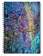 Texture And Color Abstract Spiral Notebook
