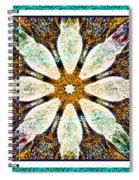 Textured Flower Kaleidoscope Triptych Spiral Notebook