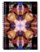 Textured Geometric Mandala Spiral Notebook