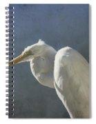 Textured Great Egret Spiral Notebook