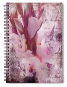 Textured Pink Gladiolas Spiral Notebook
