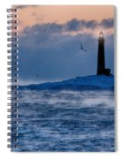 Thacher Island Lighthouse Seagull Passes Spiral Notebook