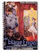 Thai Ridgeback Art Canvas Print - Der Blaue Engel Movie Poster Spiral Notebook