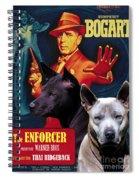 Thai Ridgeback Art Canvas Print - The Enforcer Movie Poster Spiral Notebook