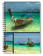 Thailand Longboats Spiral Notebook