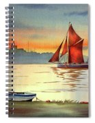 Thames Barge At Maldon Essex Spiral Notebook