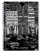 Thames In Winter Spiral Notebook