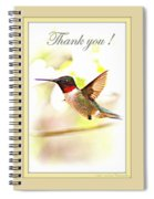 Thank You Card - Bird - Hummingbird Spiral Notebook