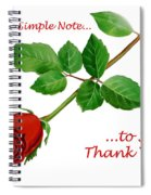 Thank You Card   Spiral Notebook