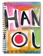 Thank You Card- Watercolor Greeting Card Spiral Notebook