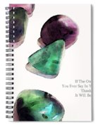 Thank You - Gratitude Rocks By Sharon Cummings Spiral Notebook