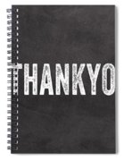 Thank You- Greeting Card Spiral Notebook
