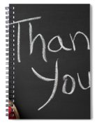 Thank You Sign On Chalkboard Spiral Notebook