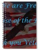 Thank You Veterans Spiral Notebook