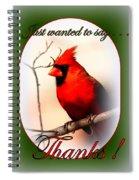 Thanks - Card Spiral Notebook