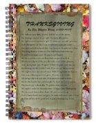 Thanksgiving By Ella Wheeler Wilcox Spiral Notebook