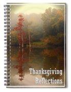 Thanksgiving Reflections Spiral Notebook